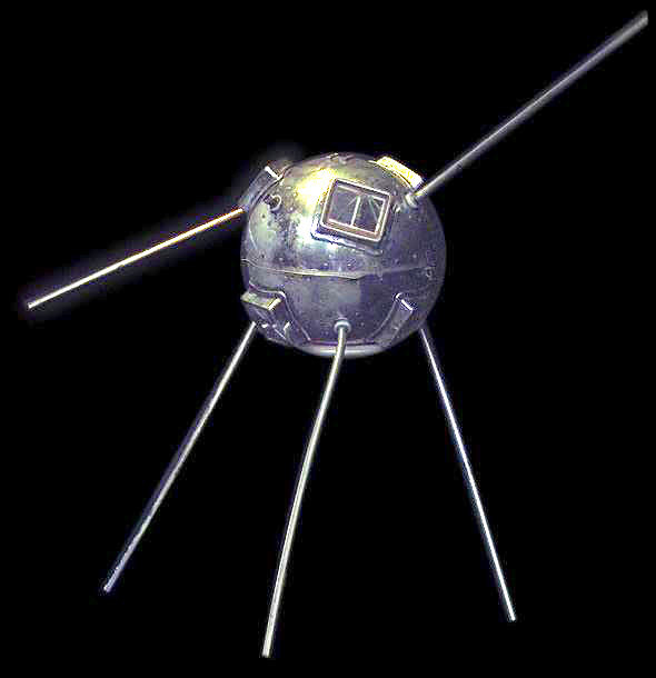 © NASA; Vanguard TV-3 (baugleich mit Vanguard 1), ausgestellt im Smithsonian Air and Space Museum (Washington, D.C., USA)